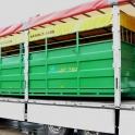 Puspriekabė, priekaba, gyvulių transportas, gyvulių vagonas,gyvulių pervežimo puspriekabė, kiaulių vežimo priekaba, karvių pervežimo priekaba, žemės ūkio priekaba, žemės ūkio puspriekabė, nauja puspriekabė,žirgų gardai, žirgynų įran