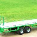 Ryšulių Transportavimo Puspriekabė, ruloninė pervežimo puspriekabė, rulonų transportavimo priekaba, platforma, žemės ūkio platforma, ruloninė puspriekabė,puspriekabė rulonams vežti, puspriekabė platforma,žemės ūkio platforma, ryšulių p